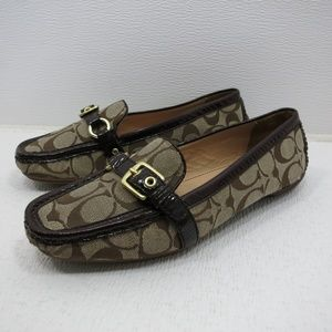Coach Stacie Coppertone Jacquard Loafers 8 M